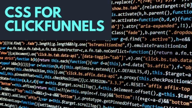 CSS clickfunnels change font