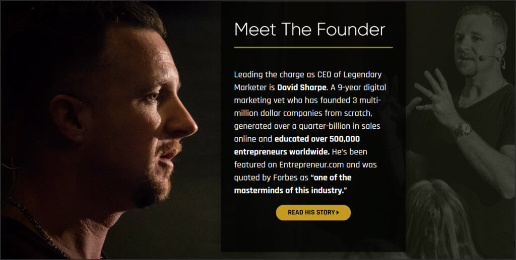 dave sharpe legendary marketer story