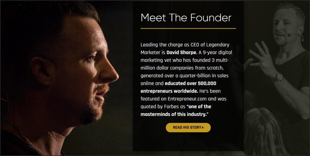 dave sharpe legendary marketer story
