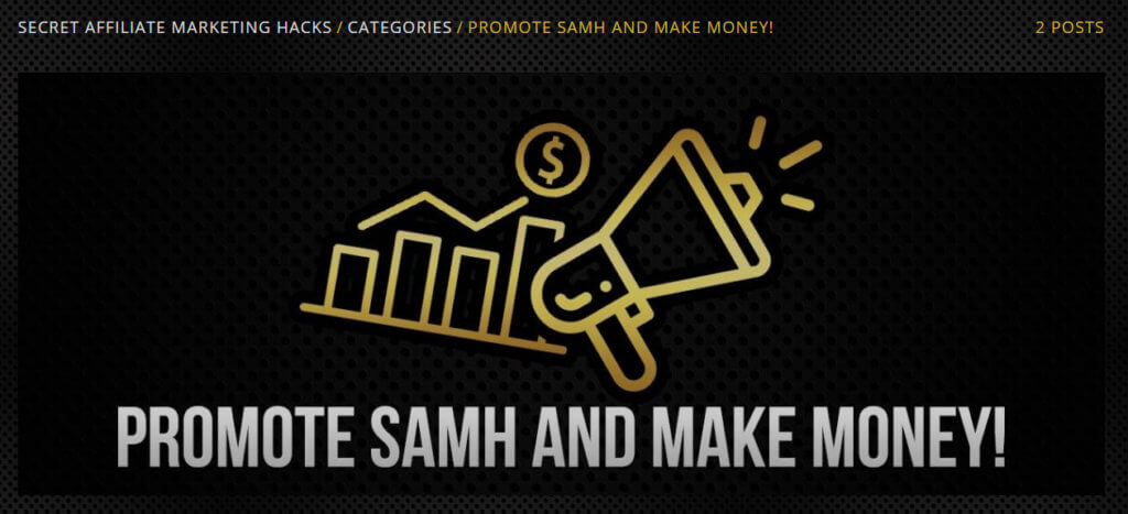 promote samh and make money affiliate program