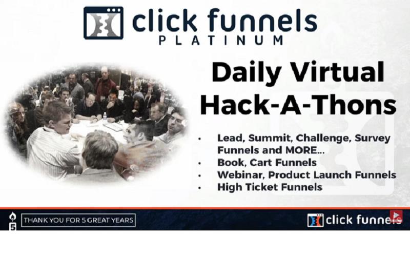 clickfunnels daily hackathon platinum