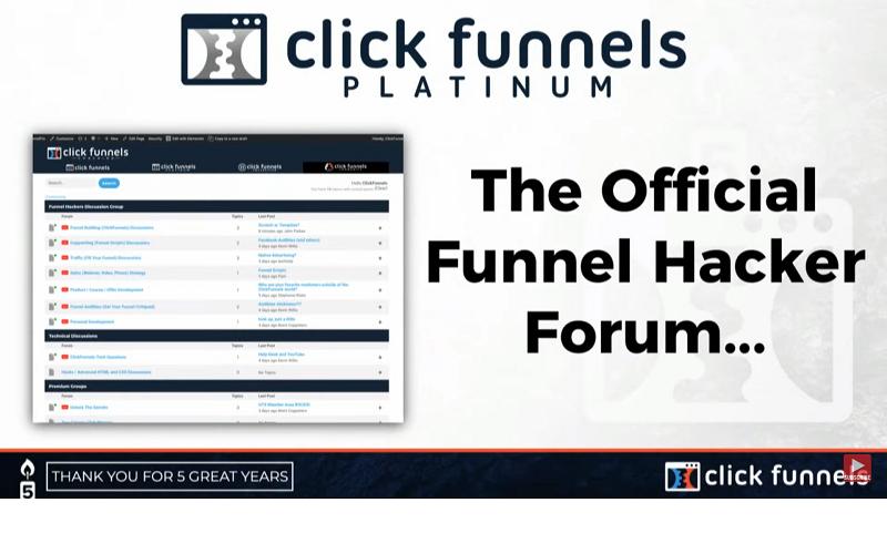 clickfunnels funnel hacker forum