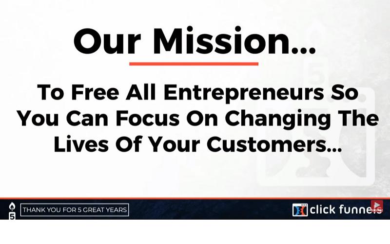 clickfunnels mission statement
