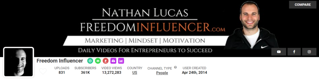 nathan lucas freedom influencer affiliate