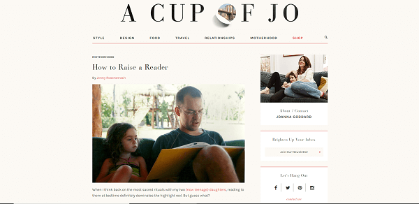 a cup of jo mom blog