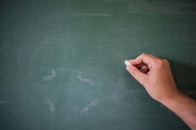 chalkboard to teach people
