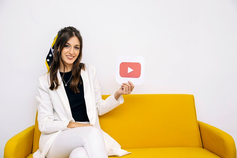 woman get started with youtube channel