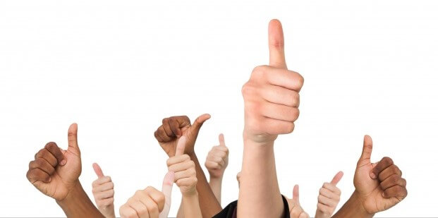 thumbs up all round good job