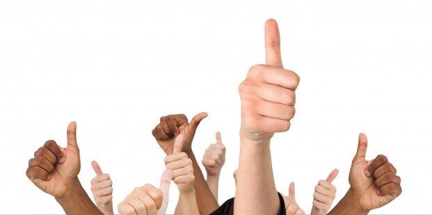 thumbs up all round good job