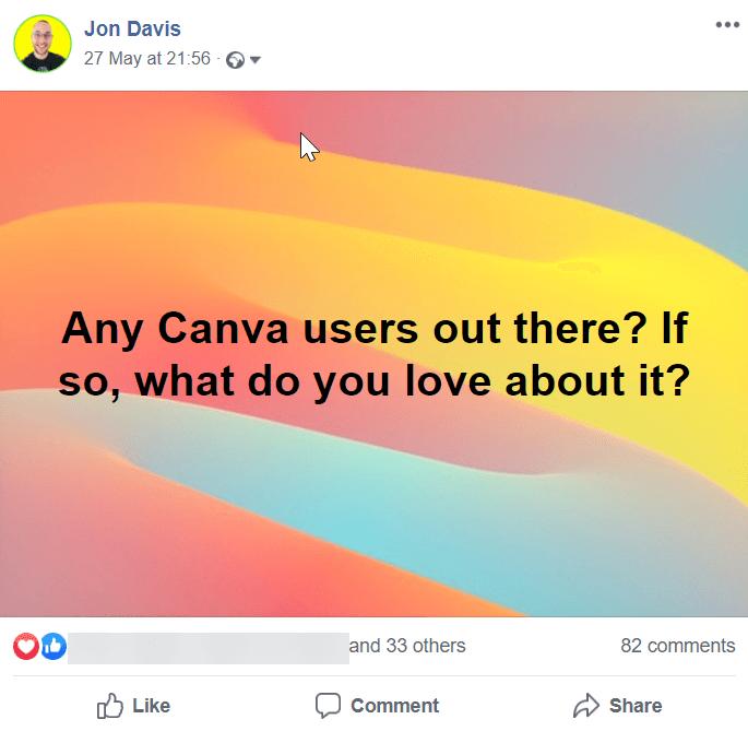 facebook do you use canva