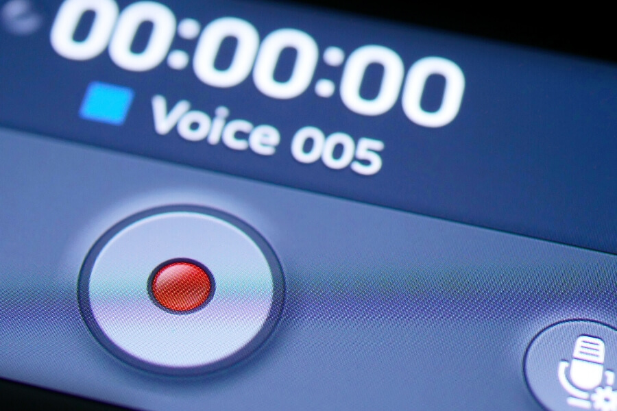 record audio on cellphone