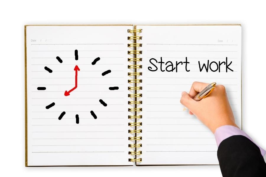 start work against the clock