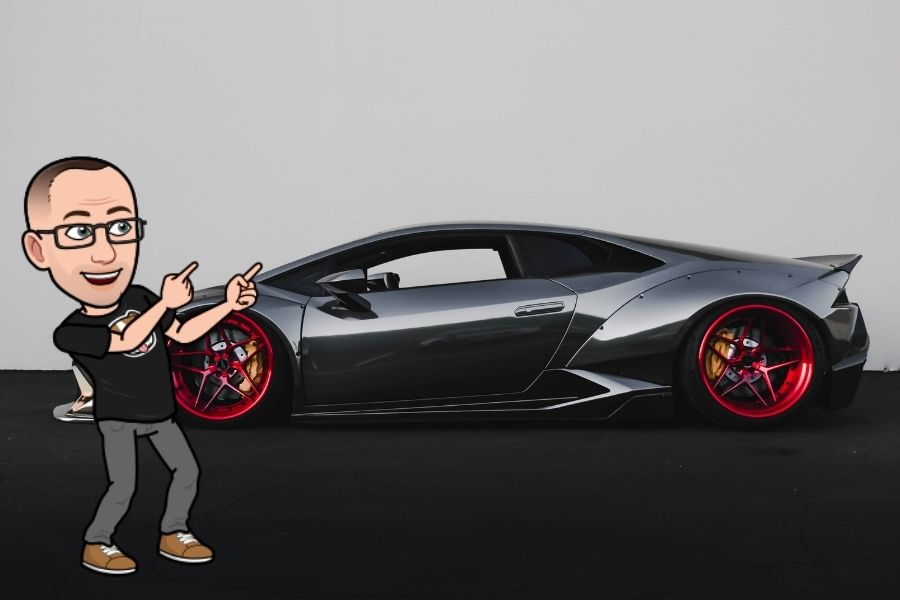 cheesy lambo guru photo