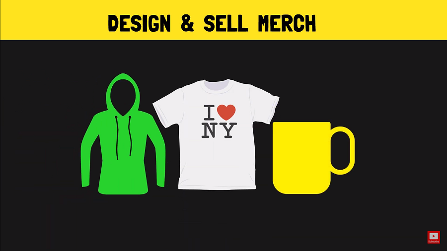 sell merch using redbubble