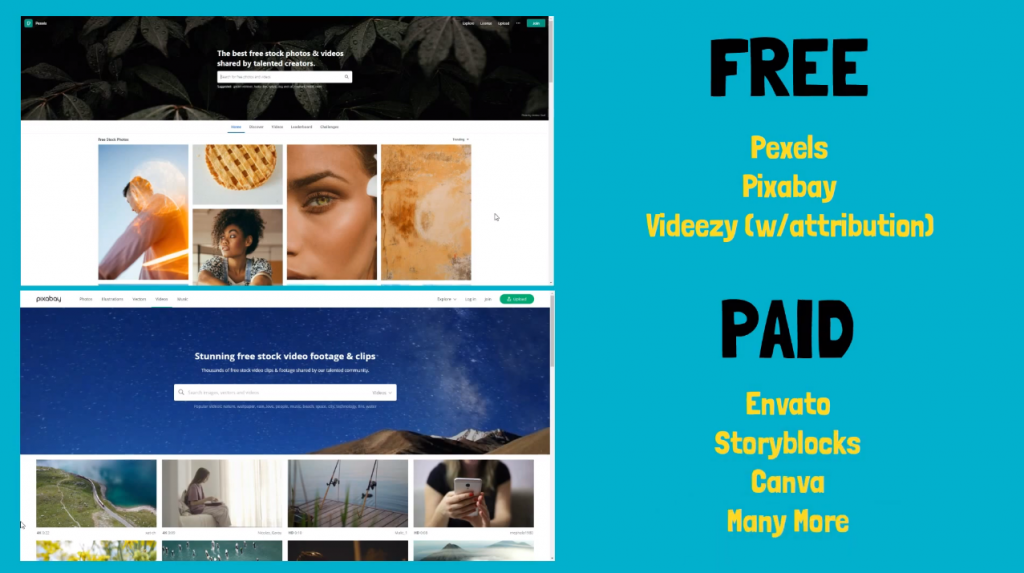 sites to download free non commercial video for youtube