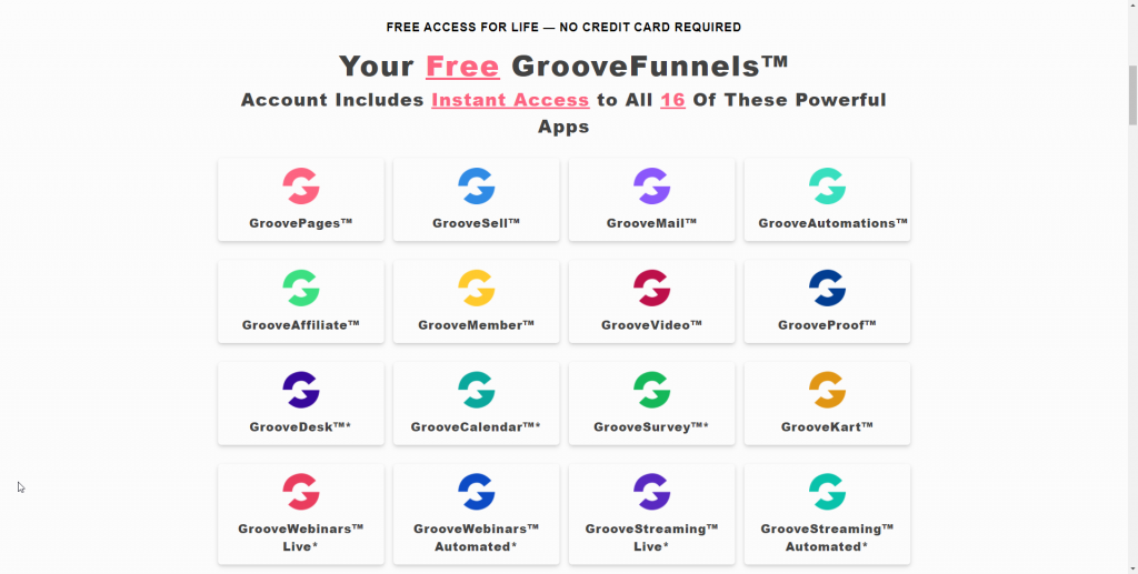 what do you get with groovefunnels