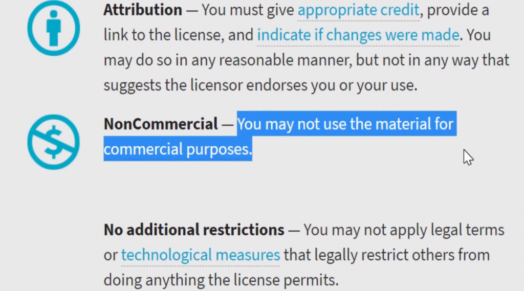 dont use creative commons for youtube