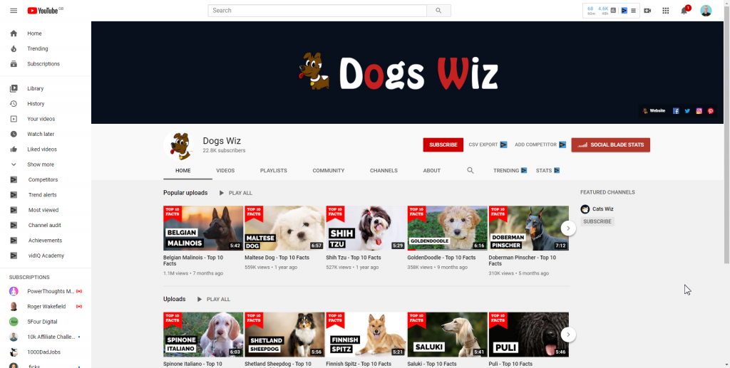 dosswiz youtube channel facts about dogs