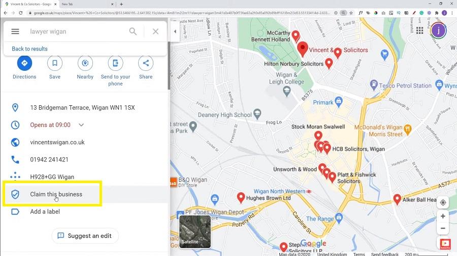google claim my business