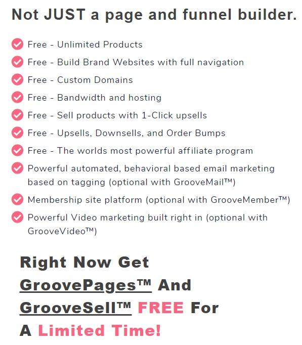 groovefunnels features free plan