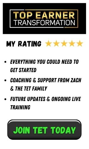 top earner tranformation review sidebar
