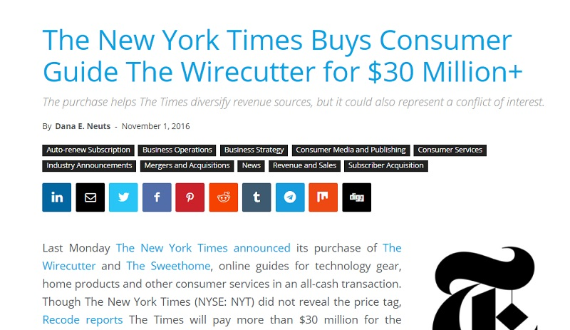 NYTimes buy wirecutter