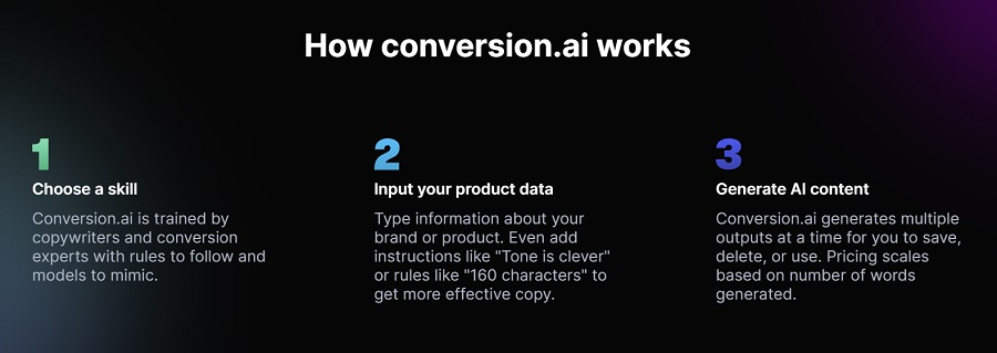how does conversion ai work