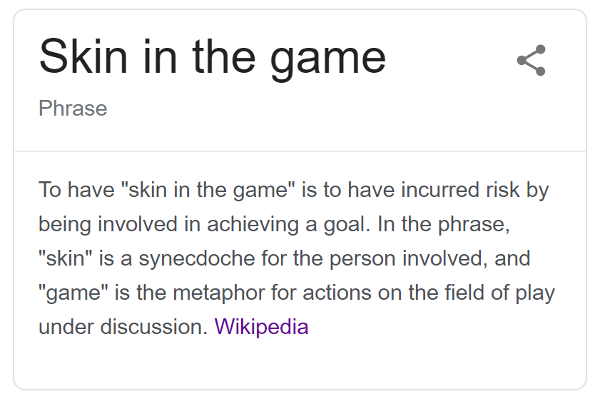 skin in the game quote