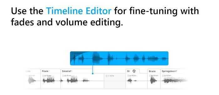 Descript timeline editor