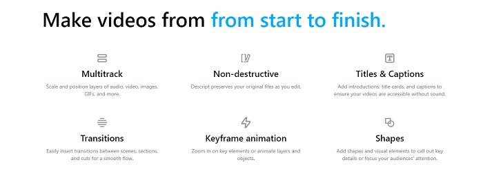 descript video editor features
