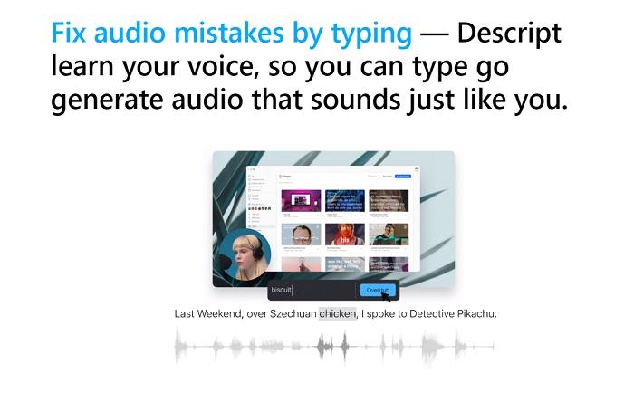 editing audio in descript